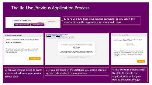 Reuse previous application